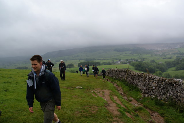 Climbing out of Ribblesdale
