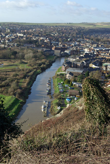 View up the Ouse towards Lewes