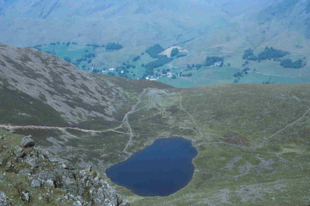 Bleaberry Tarn from Chapel Crags