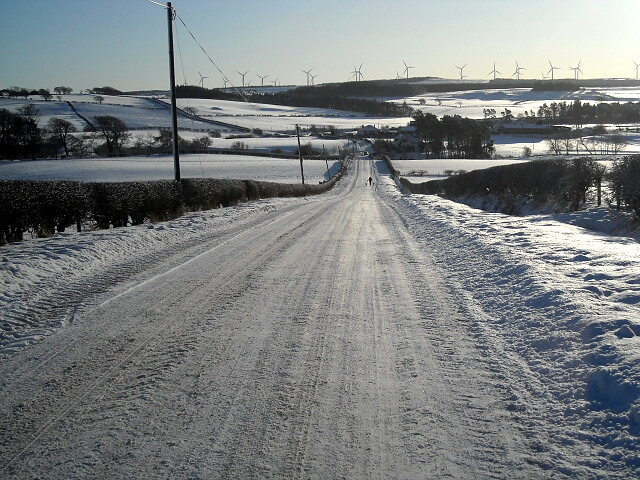 Snow Covered Road to Nether Enoch
