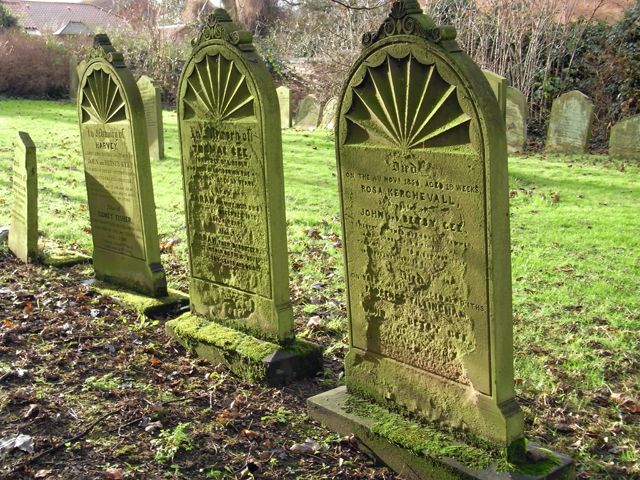 Lichened Tombstones, St. Peter's Churchyard