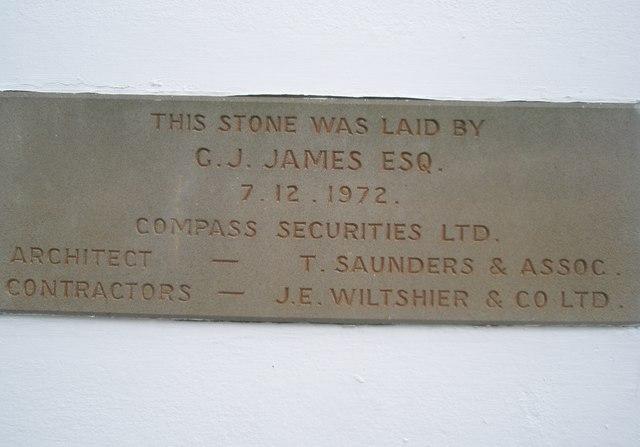 Date stone in Lincoln's Inn Fields