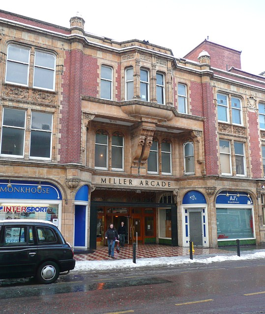 The entrance to Miller Arcade, Preston