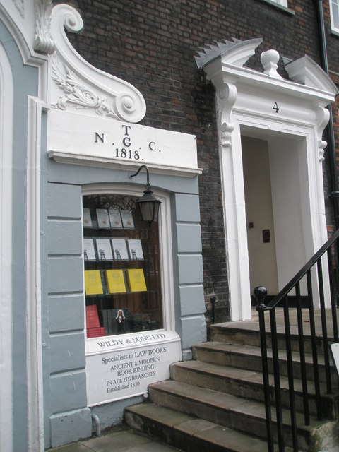 Legal bookshop at Lincoln's Inn