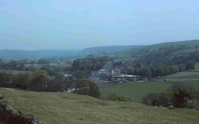 View from Fell overlooking Burnsall