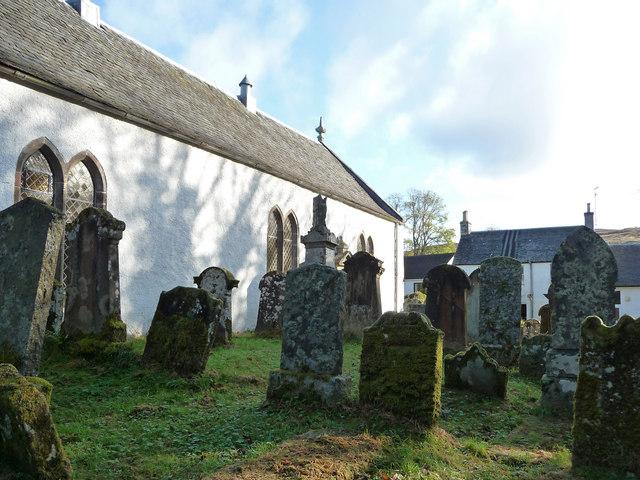 Churchyard at Kilfinan Parish Church