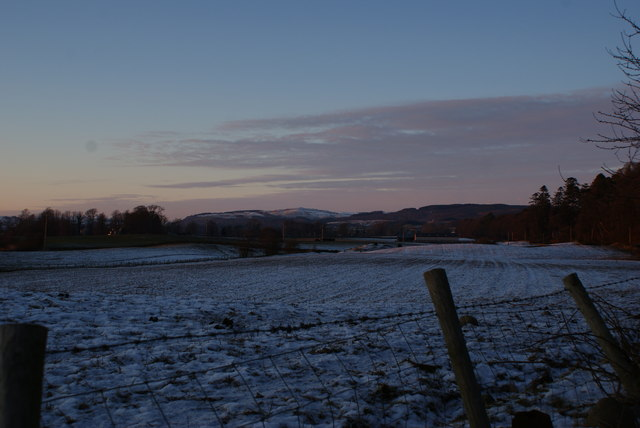 January evening looking towards Auldgirth