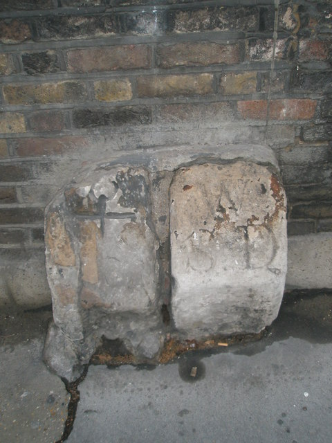 Ancient parish boundary marks in carey Street