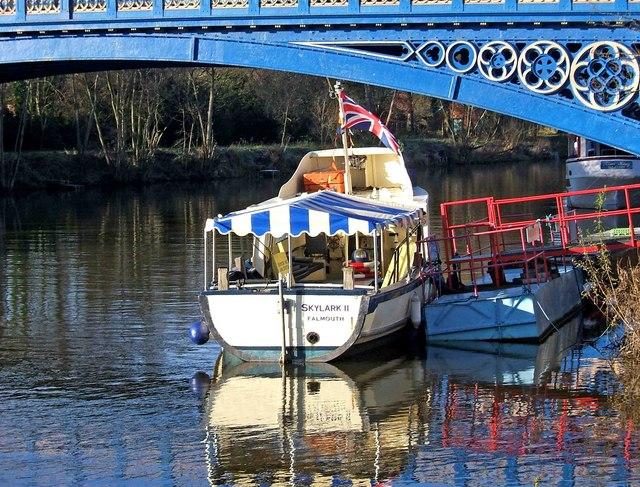 """Skylark II"" moored by Stourport Bridge, Stourport-on-Severn"