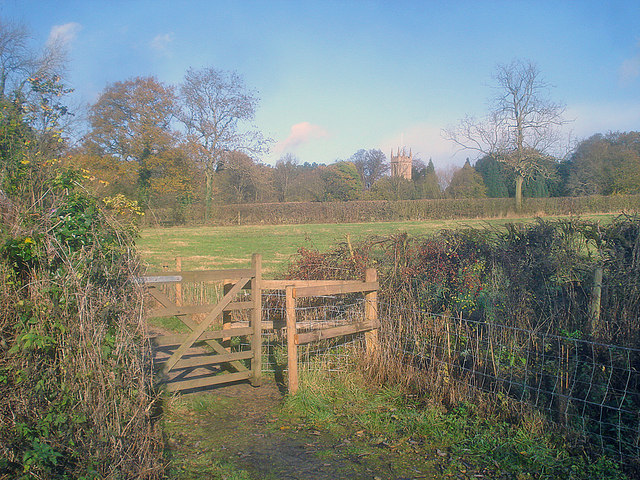 Kissing gate near Papplewick