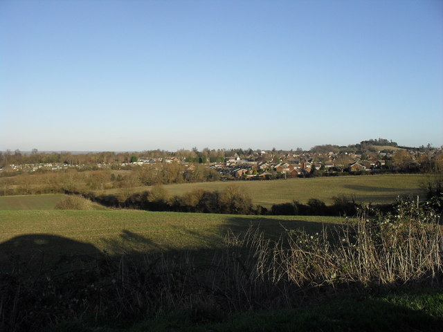 View over the fields towards Faringdon