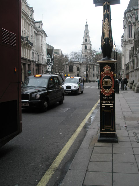 City of Westminster boundary marker in The Strand