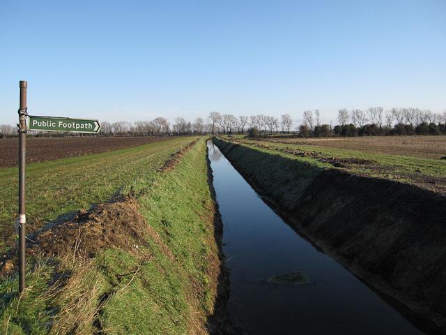 Ditch across Soham Fen