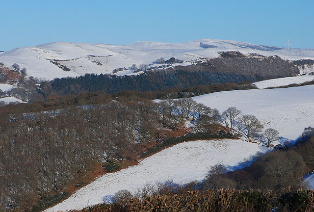 Fields below Pant Mawr, in snow