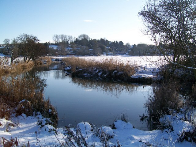 River Stour & Stour Provost in the snow