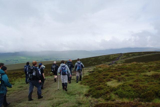 Plodding across the moor