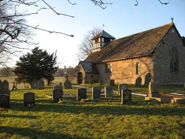 Church of St Peter, Easthope in the winter sunshine.