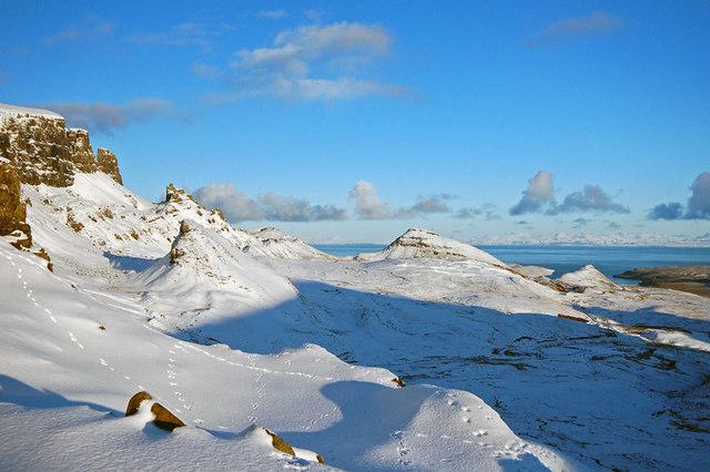 North from Bealach Ollasgairte