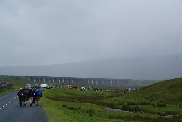 Approaching the Ribblehead Viaduct