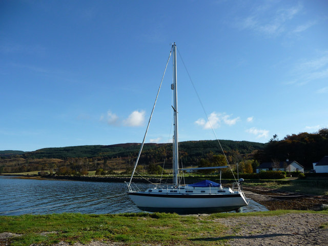 Yacht at Otter Ferry