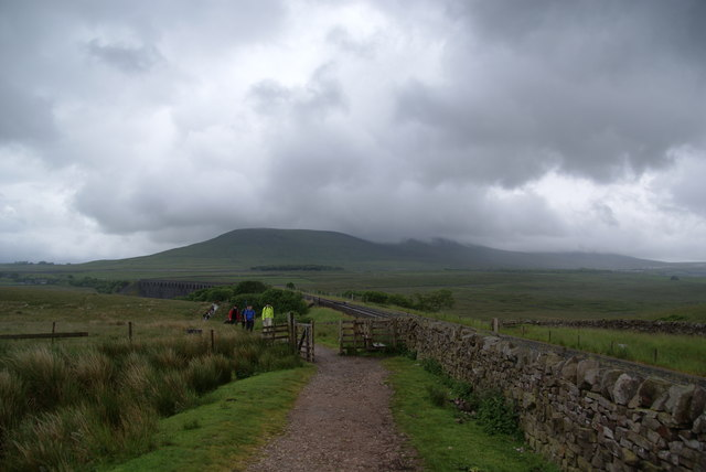 Looking back towards the Ribblehead Viaduct