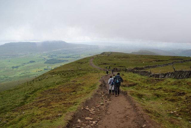 Descending the Whernside ridge