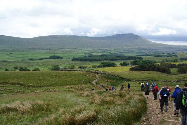 Gentle slopes below Whernside
