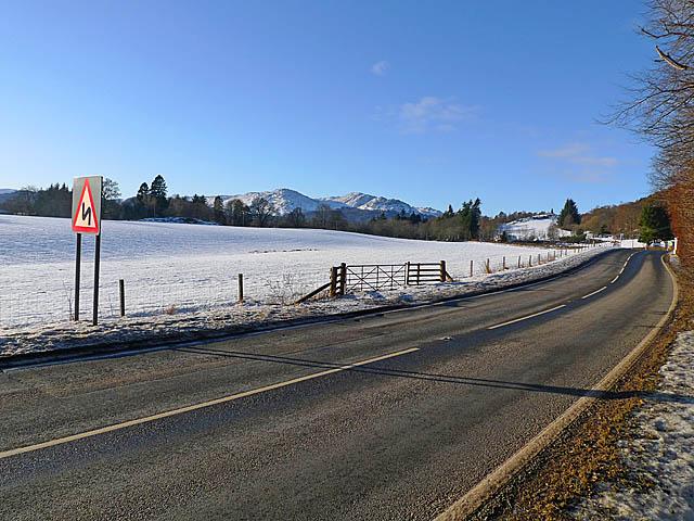 A85 near Comrie