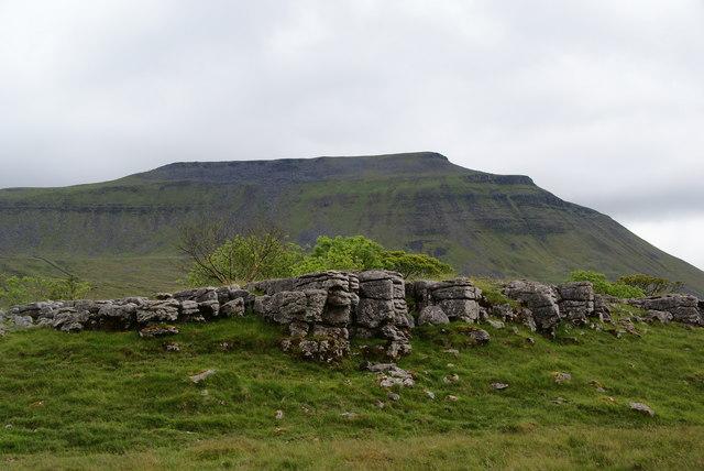A limestone outcrop