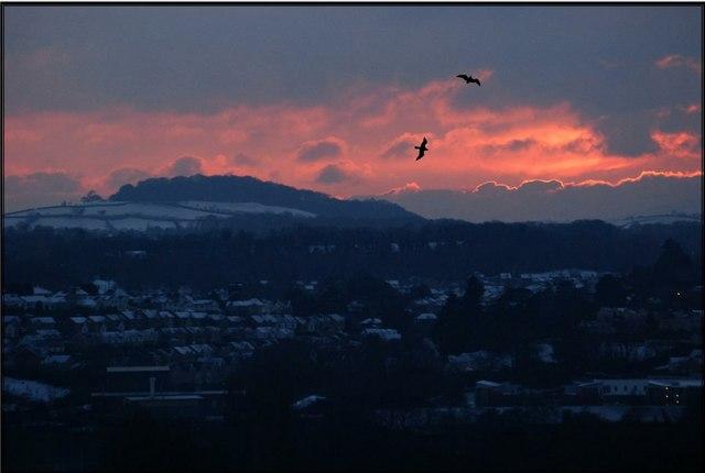 Sunset over Kingsteignton