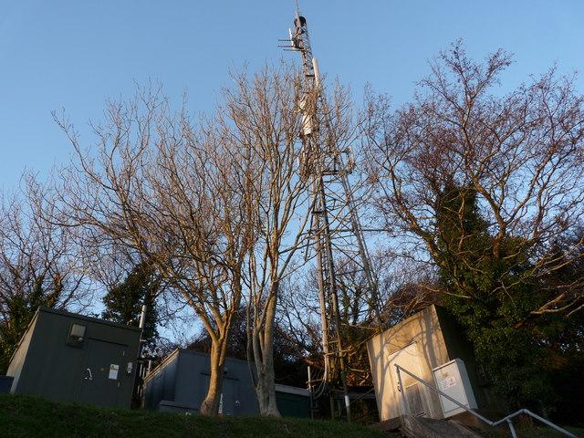 TV relay mast on the side of Hillsborough