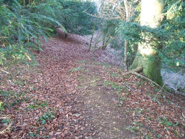 Steep footpath