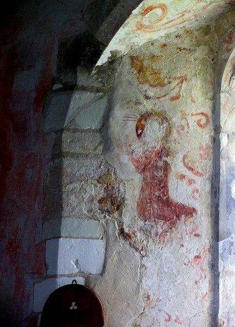 St Andrew, Ford, Sussex - Wall painting