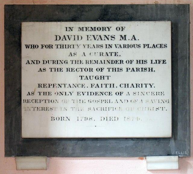 St Andrew, Ford, Sussex - Wall monument