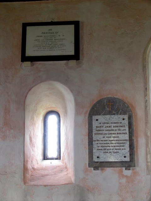 St Andrew, Ford, Sussex - Wall monuments