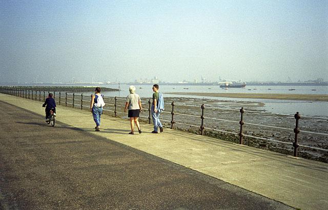 New Brighton Promenade and the Liverpool Skyline