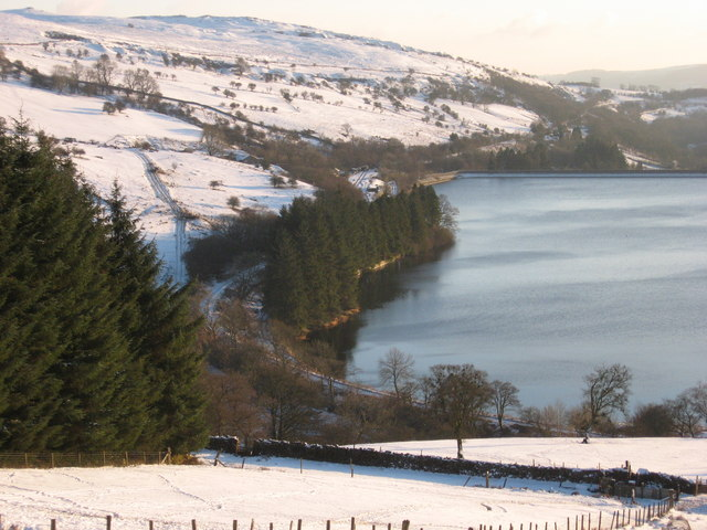 Looking onto Pontsticill Reservoir