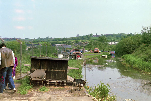 End of truncated Dudley Canal, 1987