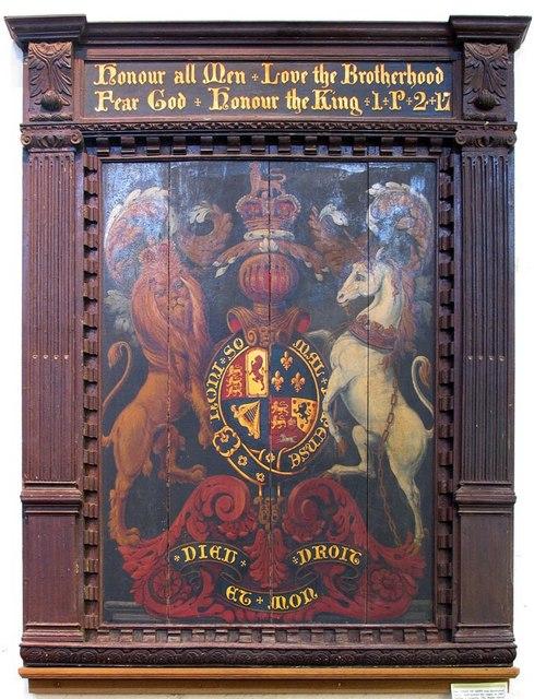 St Nicholas, Arundel, Sussex - Royal Arms
