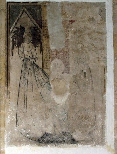 St Nicholas, Arundel, Sussex - Wall painting