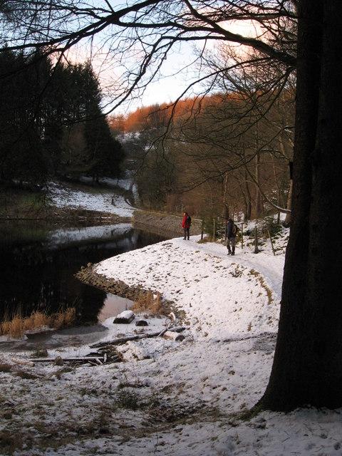 Path along Pontsticill Reservoir