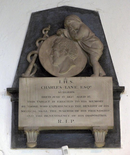 St Nicholas, Arundel, Sussex - Wall monument