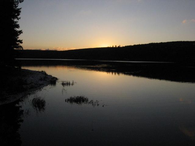 Pontstcill Reservoir at Sunset
