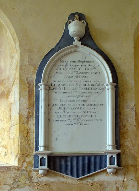 St Mary, North Stoke, Sussex - Wall monument