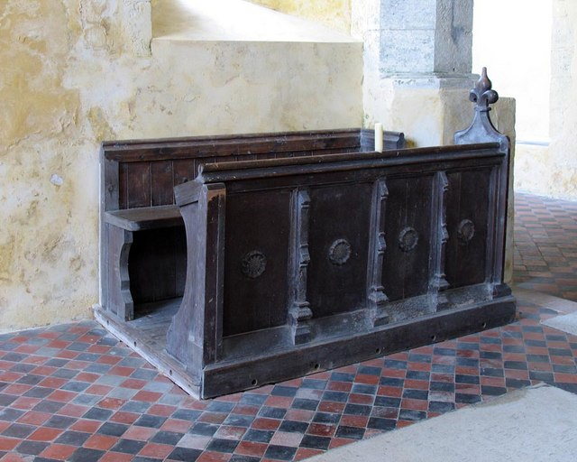 St Mary, North Stoke, Sussex - Bench