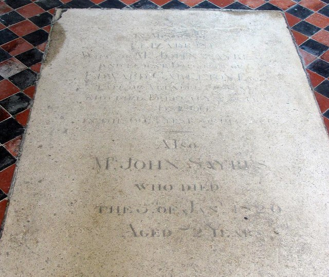 St Mary, North Stoke, Sussex - Ledger slab