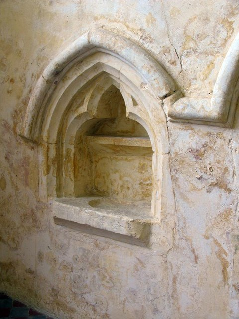 St Mary, North Stoke, Sussex - Piscina