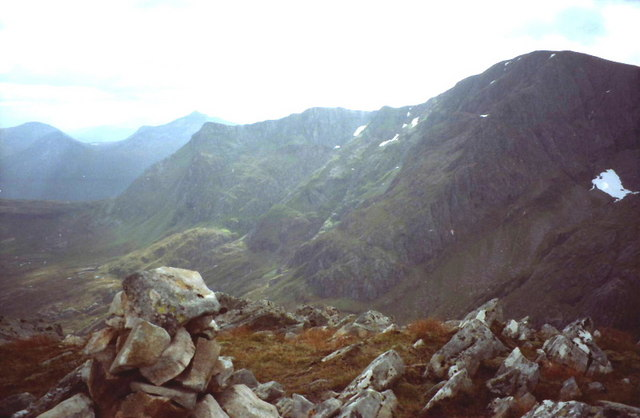 Summit cairn on Stob an Chul-Choire