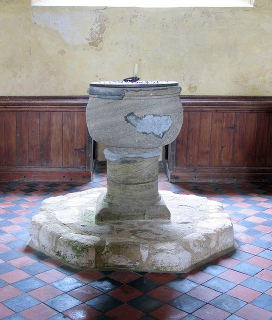 St Mary, North Stoke, Sussex - Font