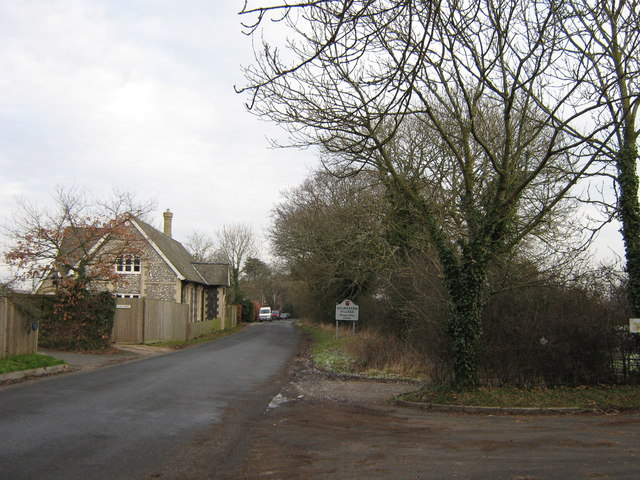 Selmeston Village Sign and Flint House